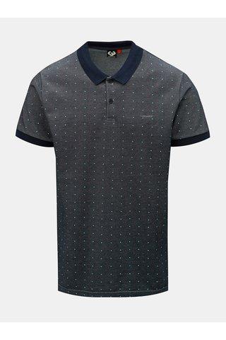 Tmavě modré pánské puntíkované polo tričko Ragwear Marny