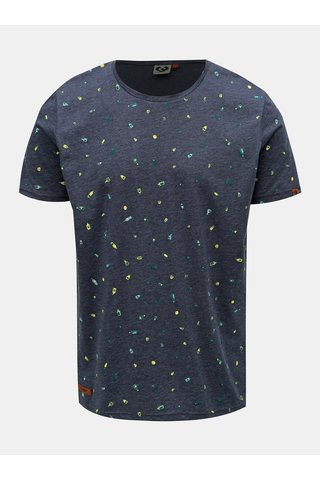 Tmavě modré pánské vzorované tričko Ragwear Taylor