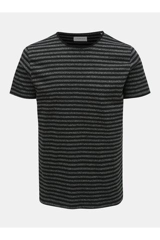 Černé pruhované basic tričko Lindbergh