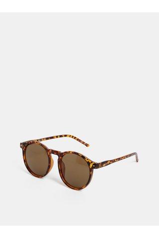 Hnědé vzorované sluneční brýle Pieces Centucky