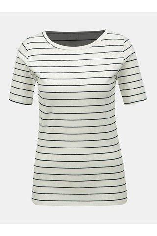 Krémové pruhované tričko Jacqueline de Yong Nevada