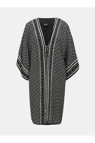 Černé vzorované kimono Jacqueline de Yong Jackie
