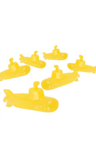 Set 6 cuburi de gheata in forma de submarin galben