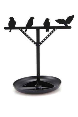 Suport de bijuterii negru Kikkerland Bird