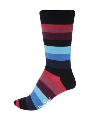 Sosete cu dungi rosii, negre si albastre pentru barbati Stripe de la Happy Socks