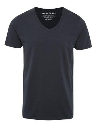 Modré triko s véčkovým výstřihem Jack & Jones Basic