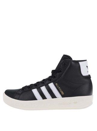 Čierne dámske kožené tenisky adidas Originals AllRound