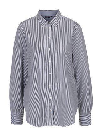 Bielo-čierna dámska pruhovaná košeľa Tommy Hilfiger - Dámske oblečenie 9f60b5701b1