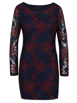 Červeno-modré krajkové šaty Mela London