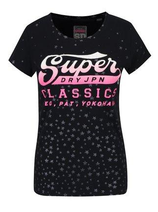 Tmavomodré dámske tričko s potlačou Superdry Classic thumbnail