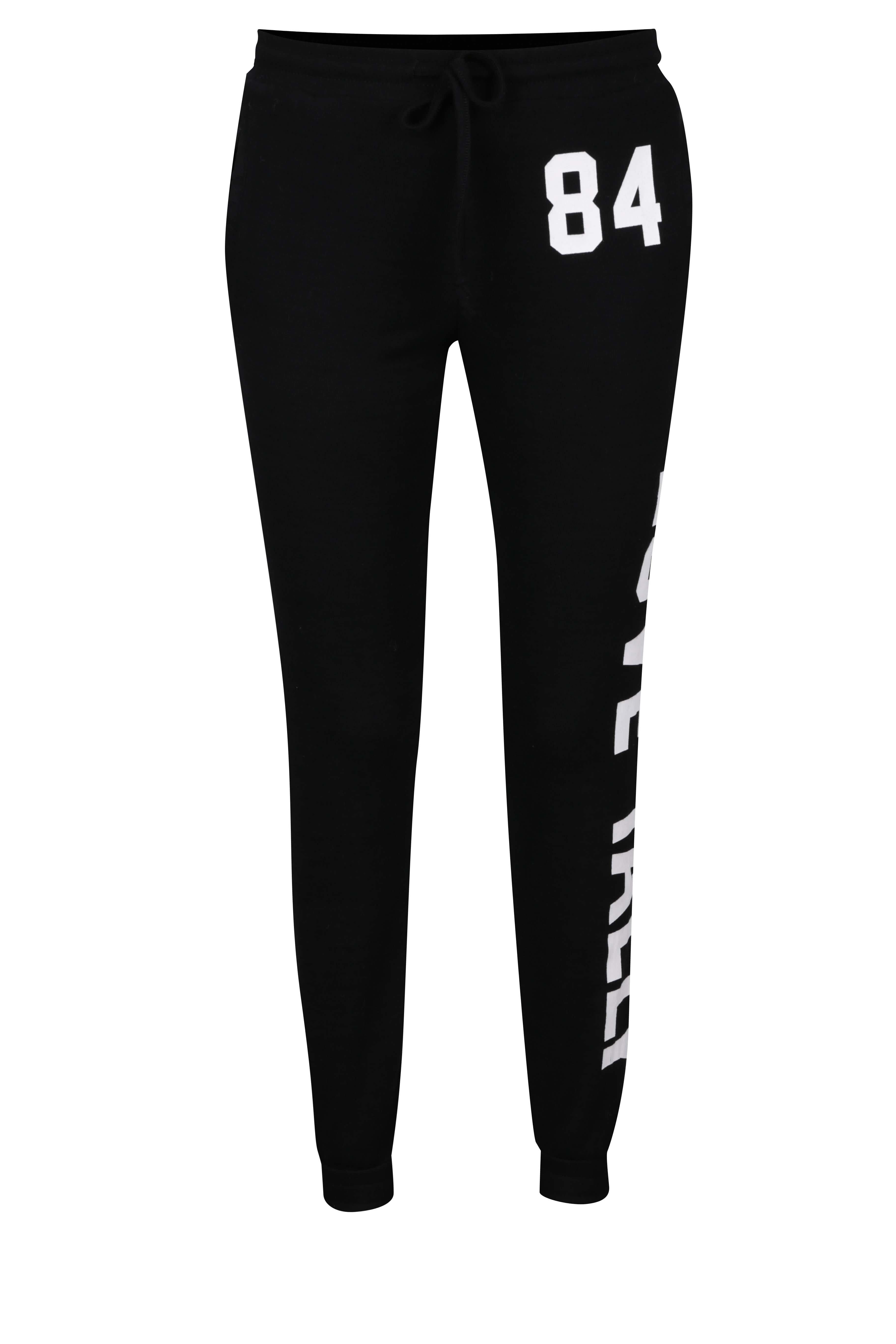 a874b810430 Černé tepláky s potiskem TALLY WEiJL ŽENY   Kalhoty