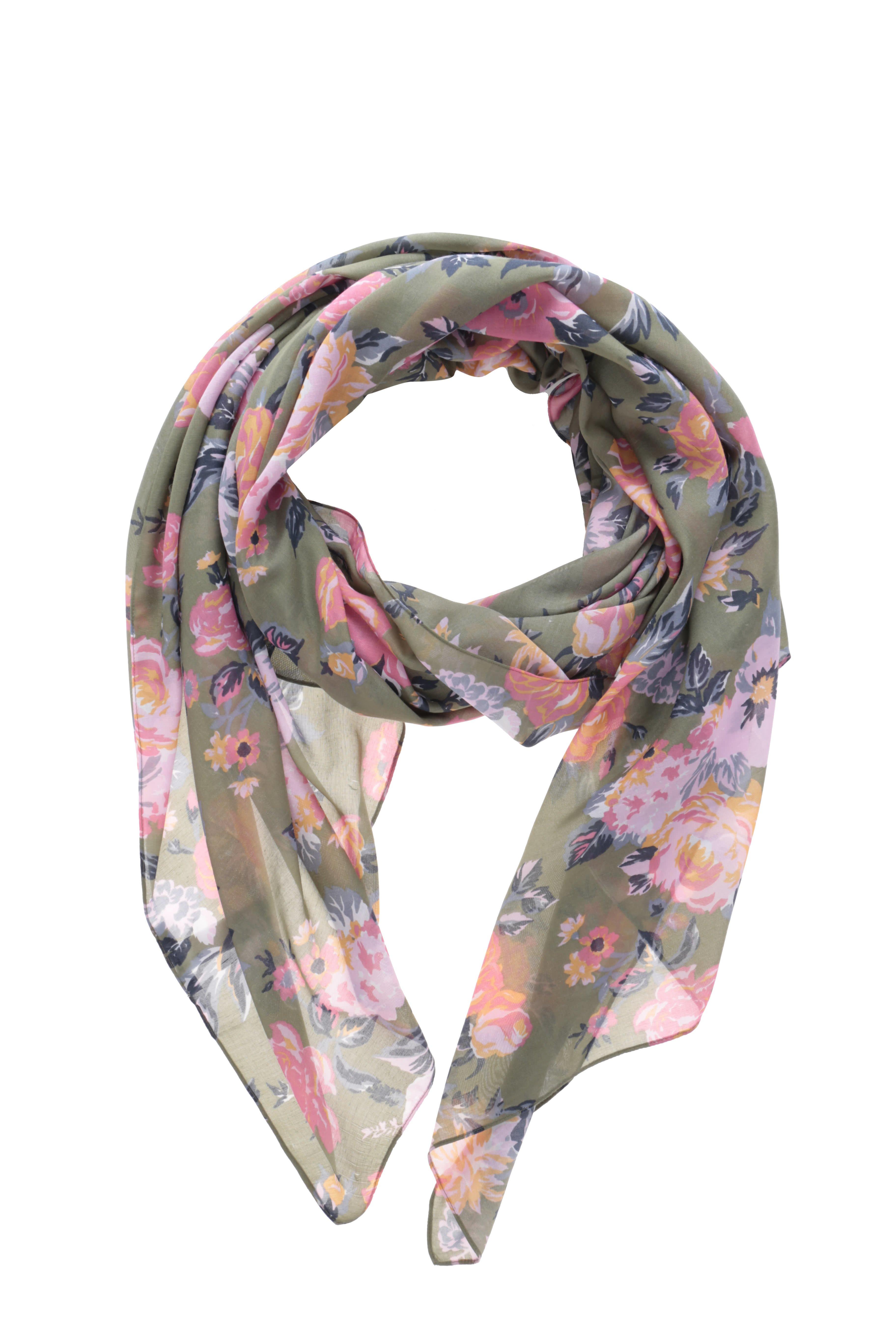 Zelený vzorovaný šátek Pieces Siella