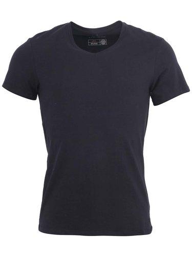 Sada dvou černých slim fit trik pod košili véčkovým výstřihem Blend