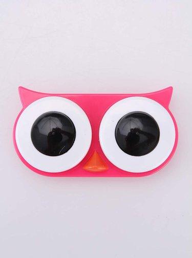 Cutie pentru lentile de contact bufnita roz - KIKKERLAND