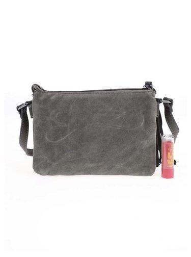 Tmavozelená menšia kabelka s hadím vzorom Pieces Rossella