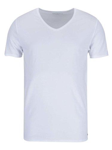 Sada tří pánských bílých trik s véčkovým výstřihem Tommy Hilfiger