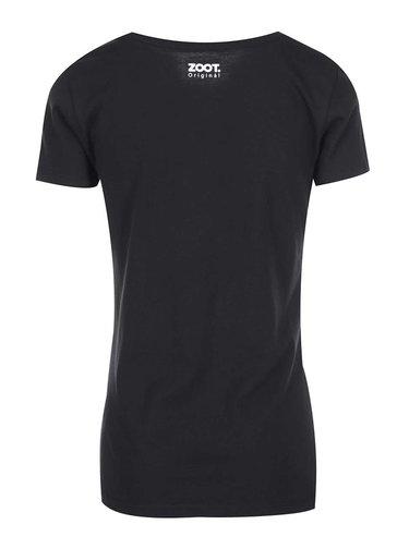 Tricou negru pentru femei ZOOT Original Darker Coffee