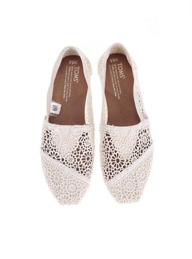 Pantofi espadrile crem crosetat de dama TOMS