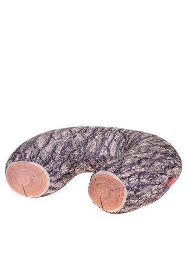 Perna Kikkerland de calatorie cu print bustean de lemn