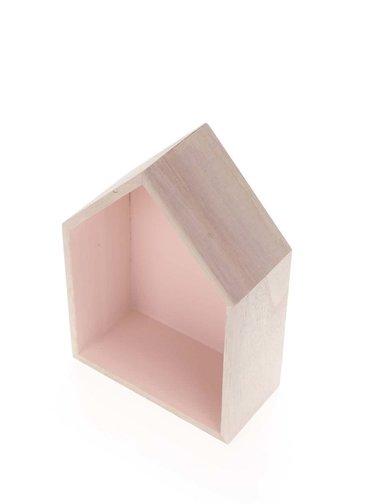 Ružový drevený závesný domček malý Dakls