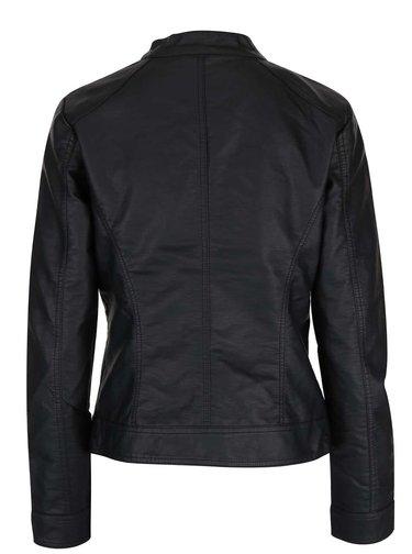 Čierna koženková bunda ONLY Bandit