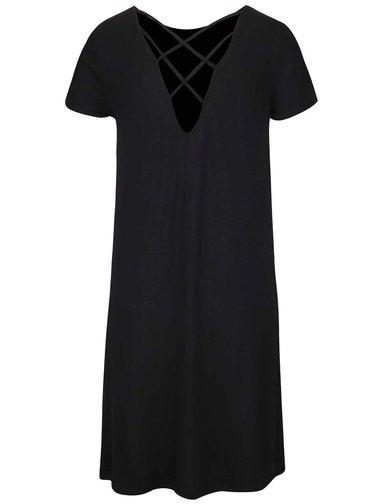 Černé šaty s pásky na zádech ONLY Bera
