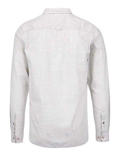Krémová slim košeľa s prúžkami Jack & Jones Harrison