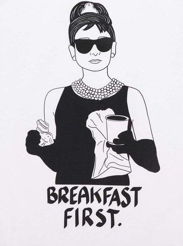 Tricou de dama  alb ZOOT Original Breakfast at Tiffany's