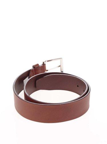 Světle hnědý pánský kožený pásek s přezkou Tommy Hilfiger