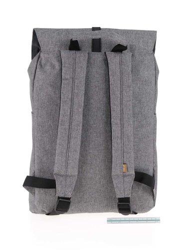 Sivý unisex batoh so sponou na patent Spiral Tribeca 14 l