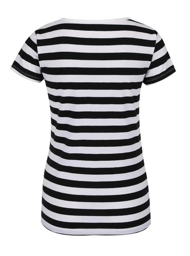 Tricou alb cu negru Haily's Mona in dungi