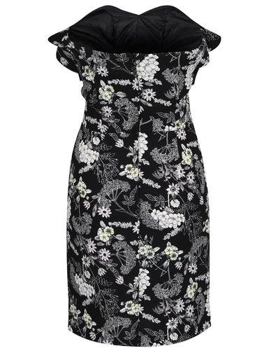 Rochie neagra cu print floral si volane - Miss Selfridge