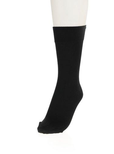 Čierne pánske ponožky s lemom Bellinda Classic