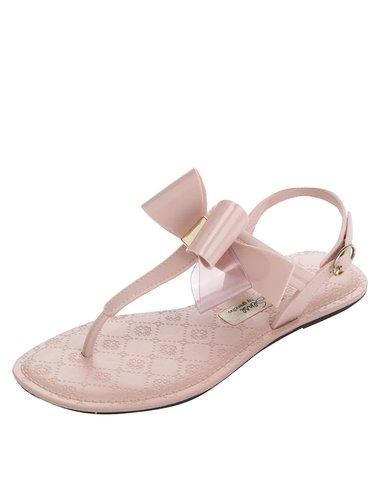 Růžové sandály s mašlí Grendha