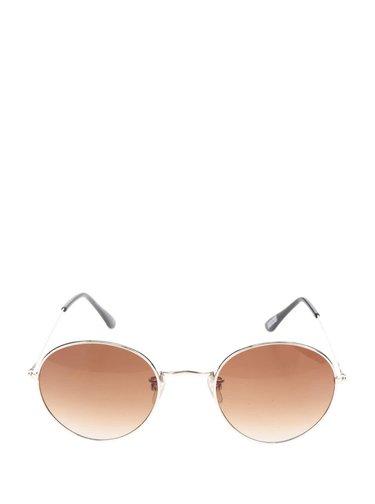 Slnečné okuliare s rámom v zlatej farbe Haily's Rondie