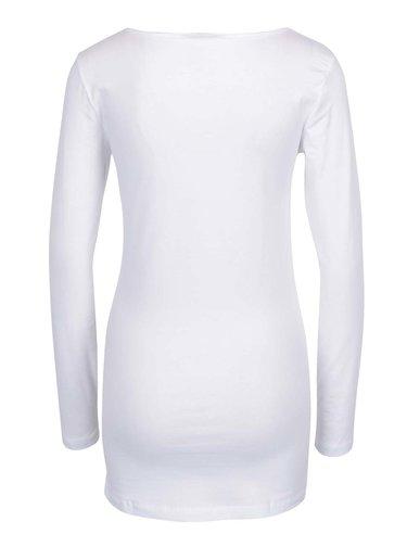 Bluza basic alba lunga VERO MODA Maxi My