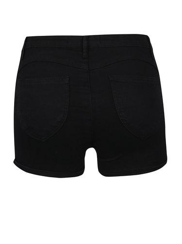 Pantaloni scurti negri TALLY WEiJL cu talie inalta