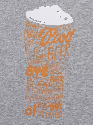 Sivé pánske tričko ZOOT Originál Pivo