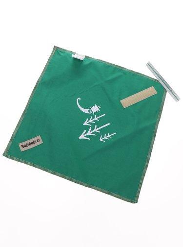 """""""Dobrý"""" zelený ubrousek na svačinu pro Asociaci lesních MŠ"""