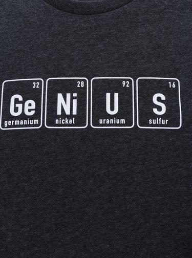 Tmavosivé pánske tričko ZOOT Originál Genius
