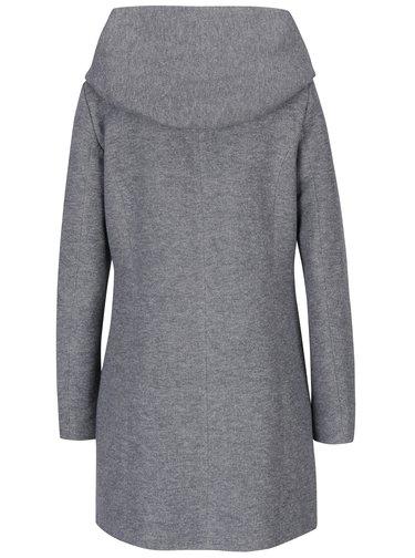 Svetlosivý melírovaný tenký kabát s kapucňou ONLY Sedona
