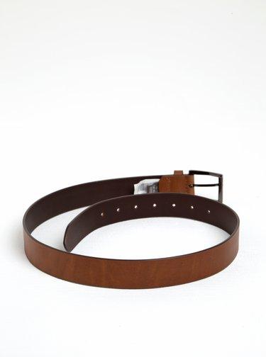 Tmavě hnědý kožený pásek Dice Westside
