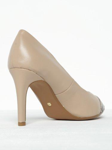 Pantofi bej cu toc si varf ascutit Dorothy Perkins