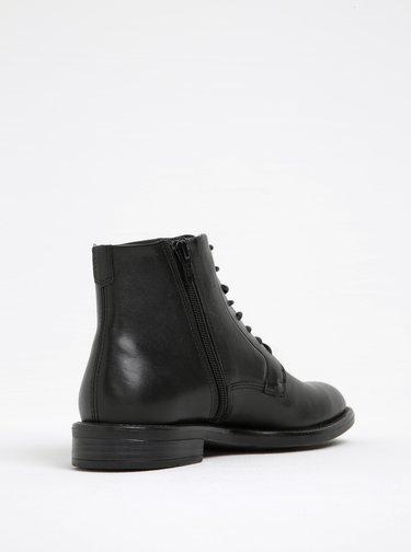 Čierne dámske kožené členkové topánky Vagabond Amina