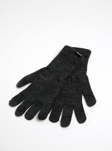Manusi tricotate gri inchis melanj - VERO MODA Nete