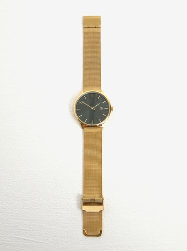 Dámske hodinky v zlatej farbe s remienkom z nehrdzavejúcej ocele CHPO Nando