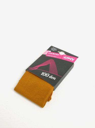 Horčicové pančuchové nohavice Gipsy