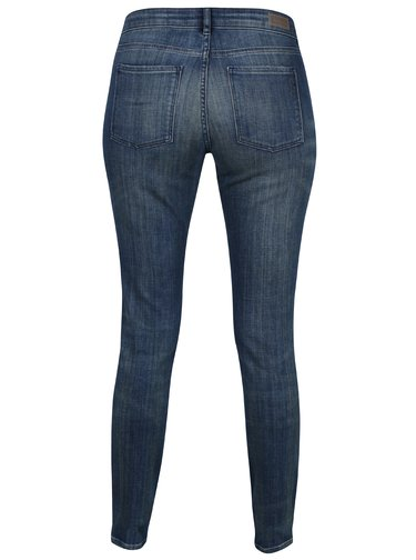 Blugi skinny albastri cu aspect decolorat Scotch & Soda