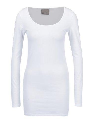 Súprava dvoch dlhých basic tričiek v čiernej a bielej farbe VERO MODA
