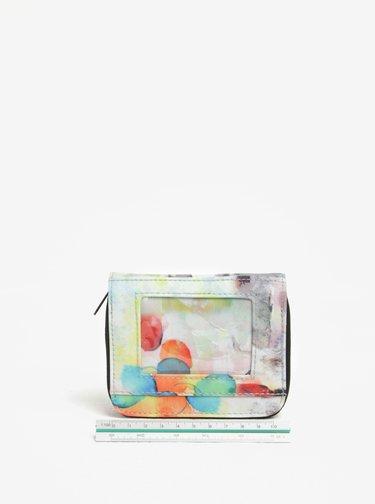 Portofel crem cu print abstract pentru femei - NUGGET Leticia